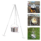 Campfire Tripod Camping Tripod with Adjustable Chain, Campfire Cooking Tripod...