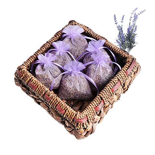 6er Set Lavendelbeutel Organza natürlicher Lavendel,Provence, schonend getrocknet, Umweltfreundlich, Made in Germany, 6X 14g Inhalt