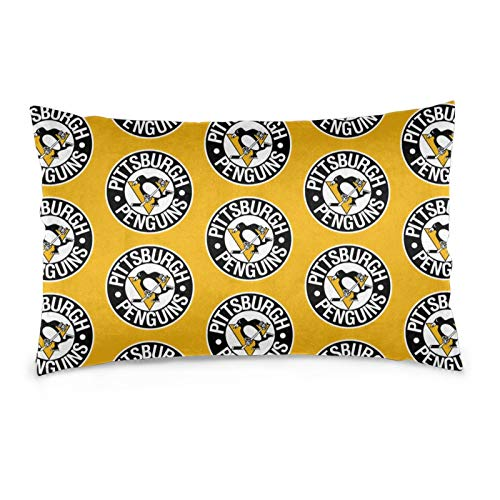 Fremont Die Pittsburgh-Penguin&s Pillow case Protector Soft and Cozy Wrinkle Fade Stain Resistant Hidden Zipper Design Recreational Vehicles