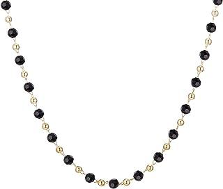 Ouran, Collana girocollo da donna, multicolore con ciondolo a catena lunga, ideale come regalo per ragazze, mamma, amiche