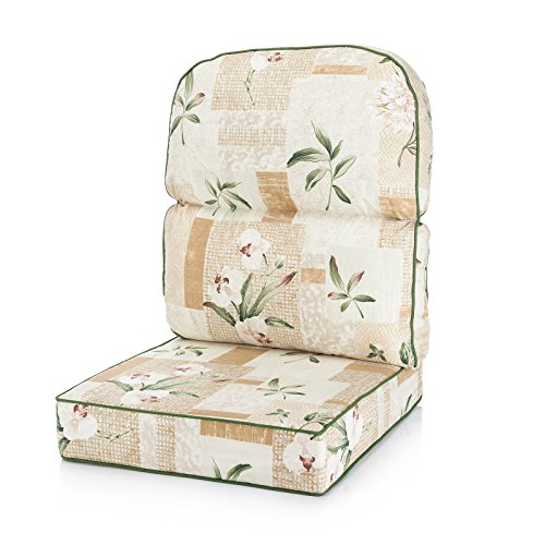 Alfresia Replacement Low Back Conservatory Furniture Cushion - Harrogate Natural