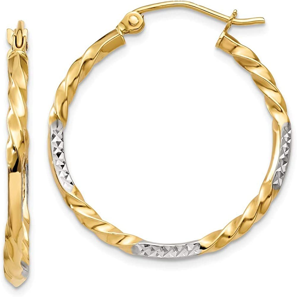 specialty shop Roy Rose Jewelry Sale Special Price 14K Yellow Gold Diamond Rhodium H Twisted Cut