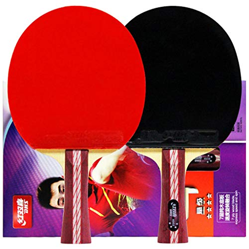 Read About Ping Pong Paddle Set of 2 Table Tennis Rackets,Suitable for Intermediate Senior Players