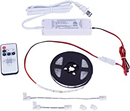 Commercial Electric 16 ft. White Indoor LED Tape Light w/Remote (Plug-in or Direct Wire)
