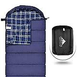 Saco de dormir de franela de algodón para adultos, 100% saco de dormir con forro de algodón para camping, senderismo, viajes de mochilero, ligero y portátil, uso en climas cálidos de 3-4 estaciones