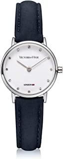 VICTORIA HYDE Women's Quartz Watches with Small Dial Genuine Leather Strap Wrist Watches for Lady