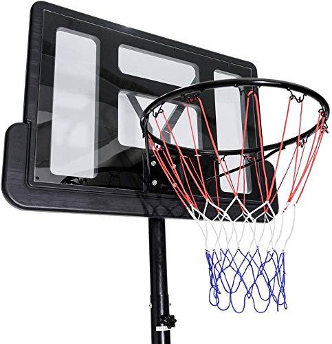 260-300cm Verstellbarer Basketballständer Mit Rädern Tragbares Basketball-Backboard-Hoop-Net-System Für Den Innen- Und Außenbereich
