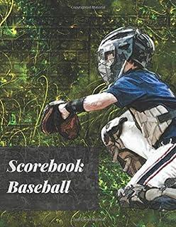 Scorebook Baseball: baseball scorekeeper book | Softball Score Record Book | Gift for Coach & Baseball Fans | wall score -...