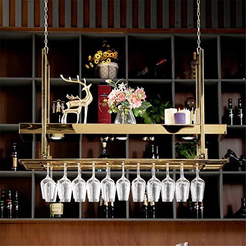 YLiansong Soporte para Copas de Vino, Copa de Vino en Rack revés Home Bar Estante del Vino Colgantes de Acero Inoxidable Estante del Vino en Rack Rack Creativa cáliz para Barra de Cocina