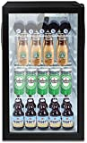 Beverage Cooler and Refrigerator, Holds up to 100 Cans, Office Fridge Glass Door with 7 temp settings, Perfect for Beer Wine or Soda