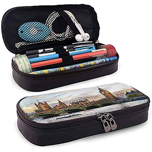 Federmäppchen, Federmäppchen Tasche, Federmäppchen, große Kapazität Durable London Sunset Scenery of Palace 20cm * 9cm * 4cm
