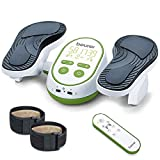 Beurer Vital Legs EMS Circulation Booster on Feet & Calves, Reduces Swelling & Cramps, Massage for Neuropathy, Relieves Nerve Pain & Aches, Foot Reflexology, Strengthens Leg Muscles, FM250
