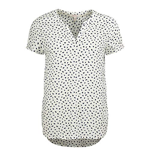 ESPRIT Damen 990EE1F303 Bluse, Off White (110), 36