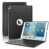 Boriyuan iPad Air 2019 (第3世代) 10.5インチ/iPad Pro 10.5インチ 2017 キーボードケース 保護ウルトラスリム ハードシェル フォリオスタンド スマートカバー 7色バックライト付き ワイヤレス Bluetooth キーボード (ブラック)