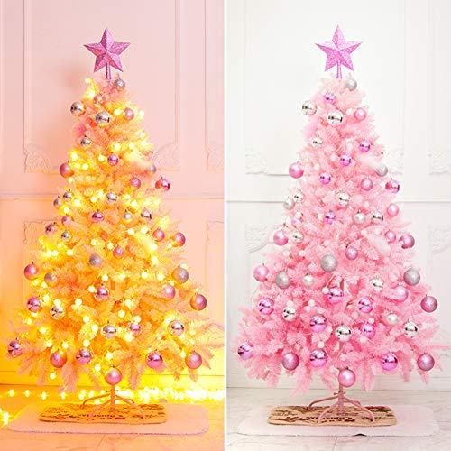 SSD Rosa Árbol de Navidad con bisagras árbol de Navidad Artificial Piernas...
