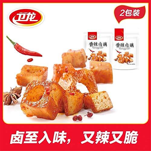7pack Weilong Ouding Xiangla LuOu Lianou 卫龙 莲藕 莲藕丁 藕片 藕 卤藕 香辣 Chinese Food 麻辣 莲藕片 零食美食素小吃, 180g (14pack(360g))
