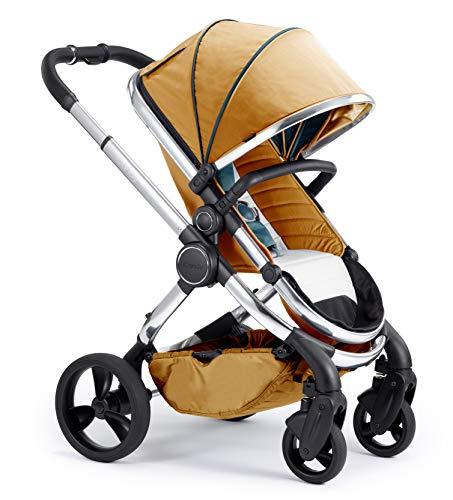 Icandy Peach Chrome Nectar Pushchair and Carrycot Set, Chrome Nectar, 13.93 kg