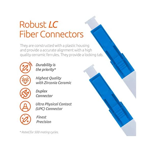 Single Mode Fibre Patch Cord - Duplex - UPC/UPC - 9/125um OS1 Multi-Packs / - Beyondtech PureOptics Cable Series 2 Beyondtech high-quality SC to SC Fiber Patch Cable Single mode 9/125 OS1 fiber is specially designed for fast Ethernet, Fiber Channel, Gigabit Ethernet Speeds, data center, premises, educational, LAN, SAN, commercial, 10GBASE-L (1310 nm), 10GBASE-E (1550 nm), 1000BASE-LX (1300 nm) and Asynchronous Transfer Mode (ATM) applications. It supports video, data and voice services. This fiber OS1 SC SC Fiber Patch Cord conforms with TIA/EIA 492AAAA and IEC60793-2-10 A1b standards and complies with RoHS specifications. This SM fiber has an yellow color jacket with a 3.00mm diameter. OS1 cables have a 0.25 dB/km attenuation at 1550 nm and 0.35 dB/km at 1310 nm.