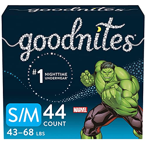 Goodnites Bedwetting Underwear for Boys, S/M, Discreet, 44 Count