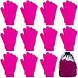 Cooraby 12 Pairs Winter Magic Gloves Stretchy Warm...
