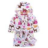 Niños Albornoz con capucha camisón, toalla de baño pijamas Baño robe Cómoda ropa de dormir linda bata de baño