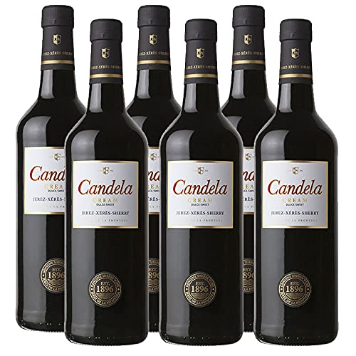 Vino dulce Cream Candela de 75 cl - D.O. Jerez-Sherry - Bodegas Grupo Caballero (Pack de 6 botellas)