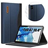 INFILAND Hülle für Samsung Galaxy Tab A7 10.4 2020, Business Folio Bezug mit Ständer Schutzhülle Tasche für Samsung Galaxy Tab A7 10.4 T500/T505/T507 2020,Dunkleblau