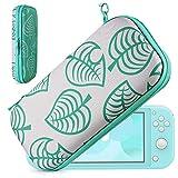 Custodia per Nintendo Switch Lite - Portatile Custodia Protettiva da Viaggio con 8 Cartucce di Gioco per Nintendo Switch Lite e Accessori per Ragazze Ragazzi di YOUSHARES(Leaf Crossing)