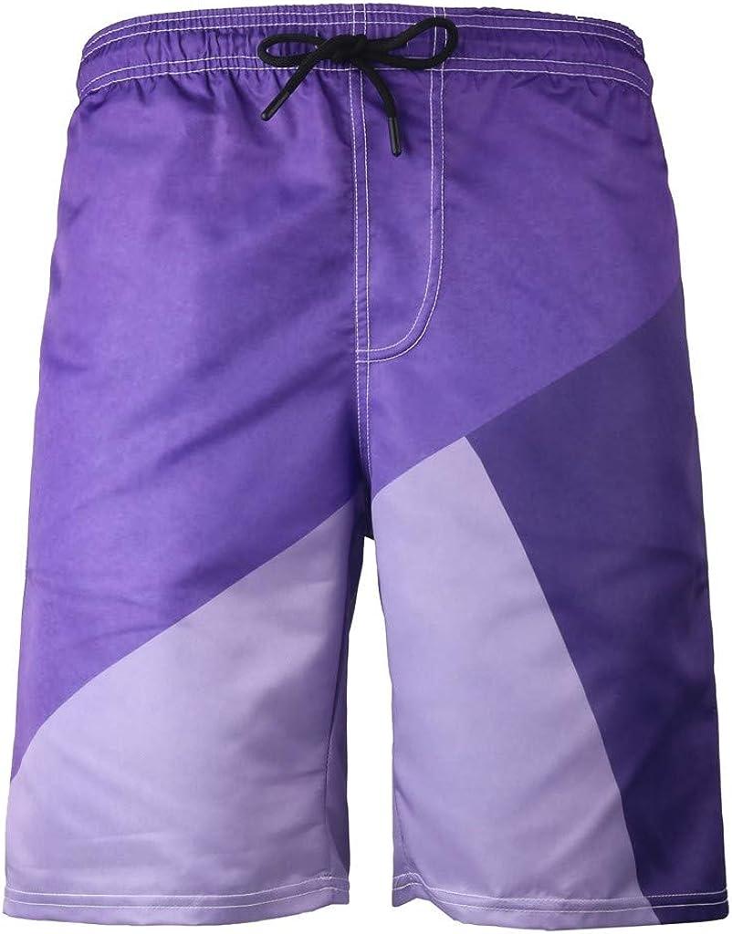 Fanteecy Men's Quick Dry Swim Trunks Long Elastic Waistband Swimwear Bathing Suits Sportwear Board Shorts with Pockets