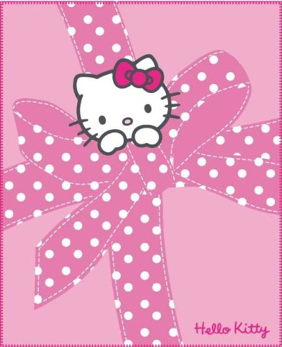 CTI 038777 Fleece Decke Hello Kitty Plumetis / 130 x 160 cm