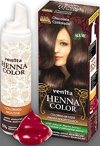 Venita Henna Color Coloring Mousse Schaumcoloration Servicepackung Schokolade (Chocolate) Nr. 115