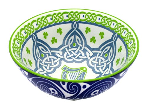 Irish Celtic Bowl With Harp Design 11cm