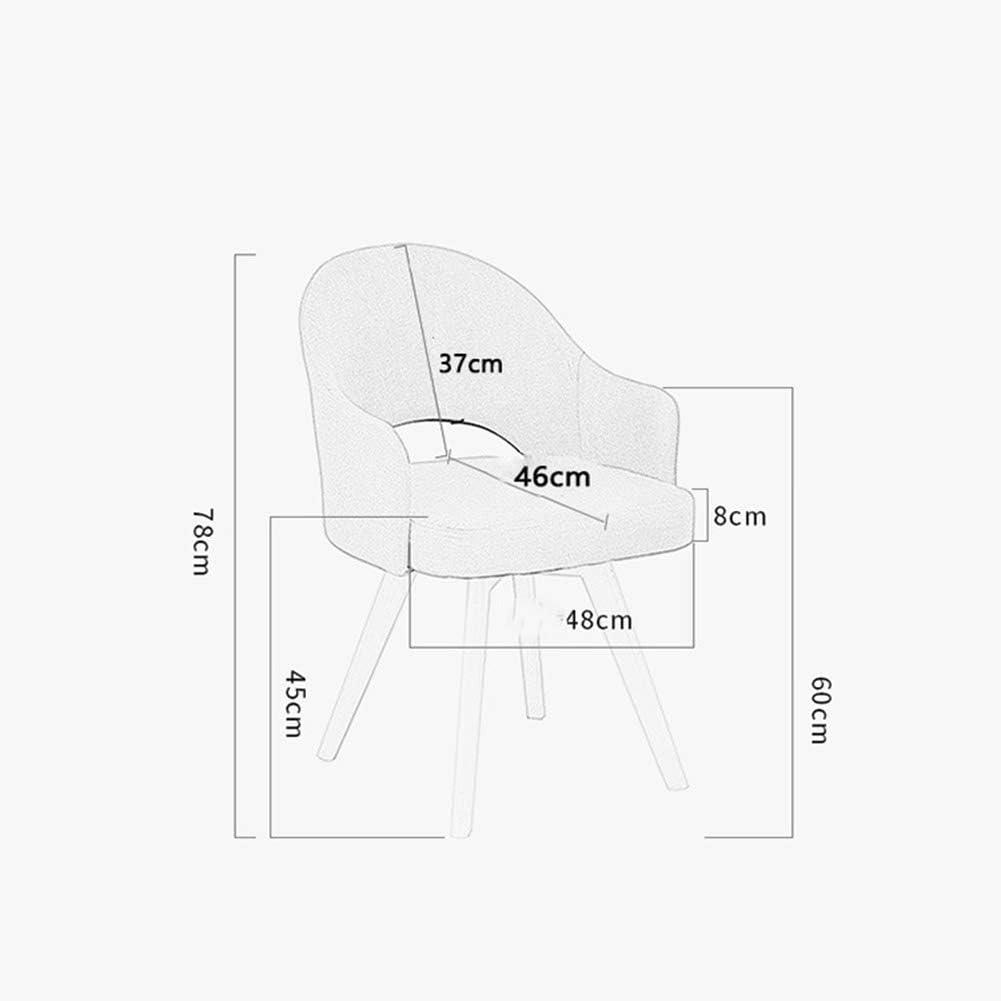 ZHENHAO Chaise De Salle à Manger Cuisine Chaise en éponge en Mousse Hautement élastique avec Assise Et Dossier en Bois avec Dossier Et Accoudoir - Charge Max100 Kg Yellow
