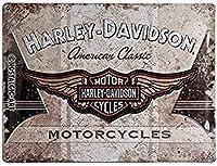 ハーレーダビッドソン Harley-Davidson American Classic Logo / ブリキ看板 TIN SIGN アメリカン雑貨 インテリア