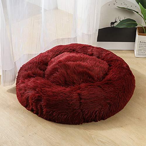 XSARACH hondenbedden, huisdierbed voor katten en honden rond pluche hondenbed kattenbed in doughnut-vorm kleur en grootte optioneel