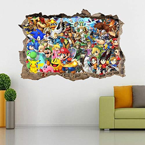 Efecto 3D ver pegatinas de pared para adolescentes y niños