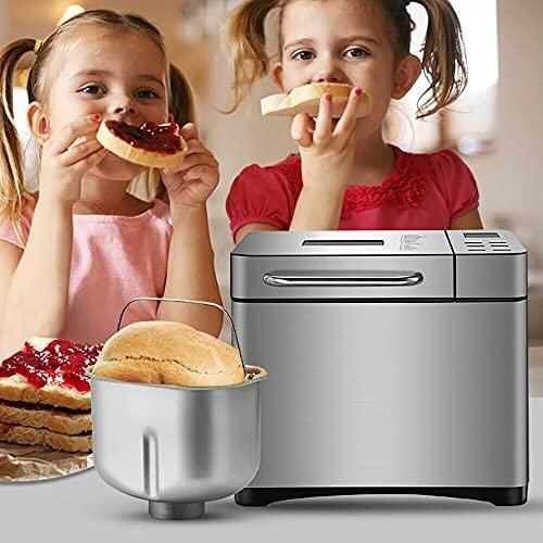 Bread Maker Digital Bread Machine 650W 17 Custom Auto Programme Macchina per il pane Backmeister, 1000 g di peso per il pane con rivestimento in ceramica