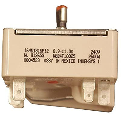 Replacing GE Range Switch WB24T10025, for 8 inch units