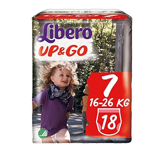 PANNOLINI LIBERO UP&GO 7^ 16-26 KG • 18 PEZZI