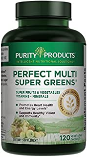 Purity Products Perfect Multi Super Greens Dietary Supplement Health Nutrition, 120 count