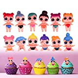 Yisscen Mini Figure Set, LOL Surprise Cake Pie Figure Decorazione Torta Decorazione, Torta per Feste Forniture Giocattoli Figure da Collezione, per Bambini Compleanno Decorazione Ragazza Ragazzo