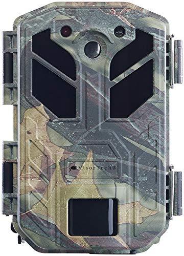 VisorTech Wildcam: 4K-Wildkamera mit Bewegungssensor, Nachtsicht, Farb-Display, IP66 (Wildkamera mit Bewegungsmelder)