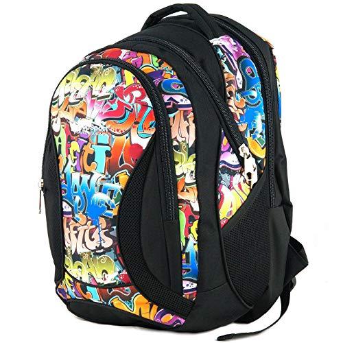 Mochila Escolar Grande para niños y niñas 40 litros yeepSport S106dx (Graffiti)