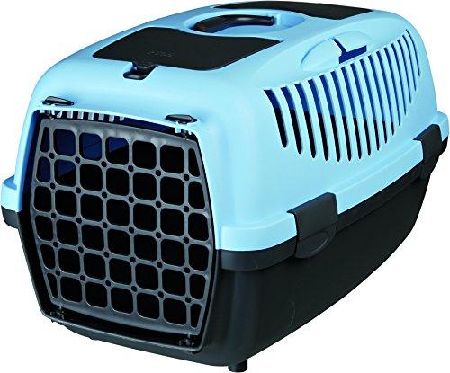 Trixie 39822 Transportbox Capri 2, XS–S: 37 × 34 × 55 cm, dunkelgrau/pastellblau