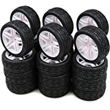 hobbysoul 24pcs RC 1/10 on Road Arrows Tires and hex 12mm Wheels Rims for RC 1:10 Touring Car