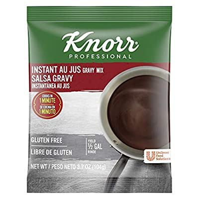 Knorr Professional Low Sodium Brown Gravy Mix Vegan, Gluten Free, No Artificial Flavors or Preservatives, No added MSG, Dairy Free, Colors from Natural Sources