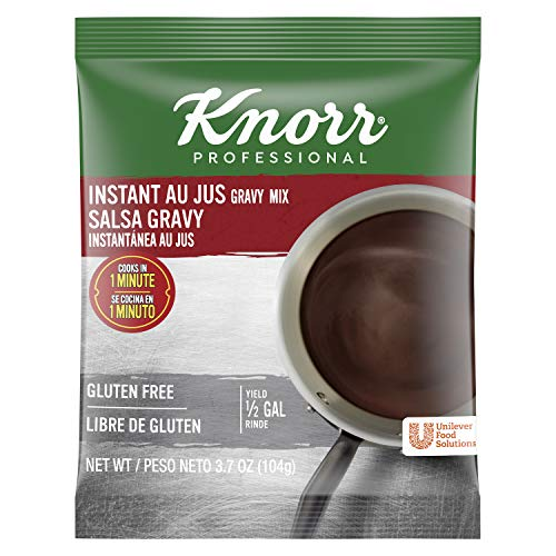 Knorr Professional Instant Au Jus Gravy Mix Gluten Free, No Artificial Flavors or Preservatives, No added MSG, Dairy Free, Colors from Natural Sources, 3.7 oz, Pack of 12