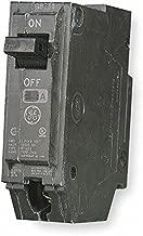 GE Plug in Circuit Breaker, THQL, Number of Poles 1, 15 Amps, 120/240VAC, Standard