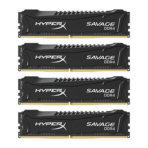 Kingston HyperX HX424C14SBK4/64 Savage XMP Arbeitsspeicher 64GB RAM (DDR4 CL14 DIMM Kit) schwarz