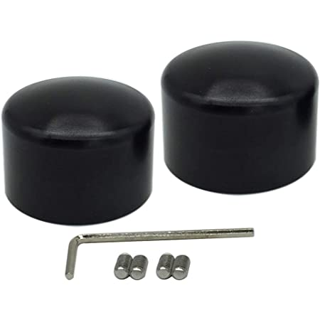 Pnndee Black Front Axle Nut Cover Axle Caps for Harley Softail Electra Road Glides Sportster